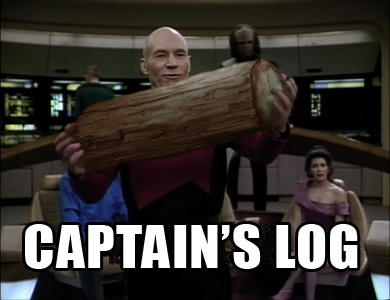 captains log Captains log..