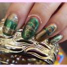 Egyptian Aztec nails – Twinsie Nails